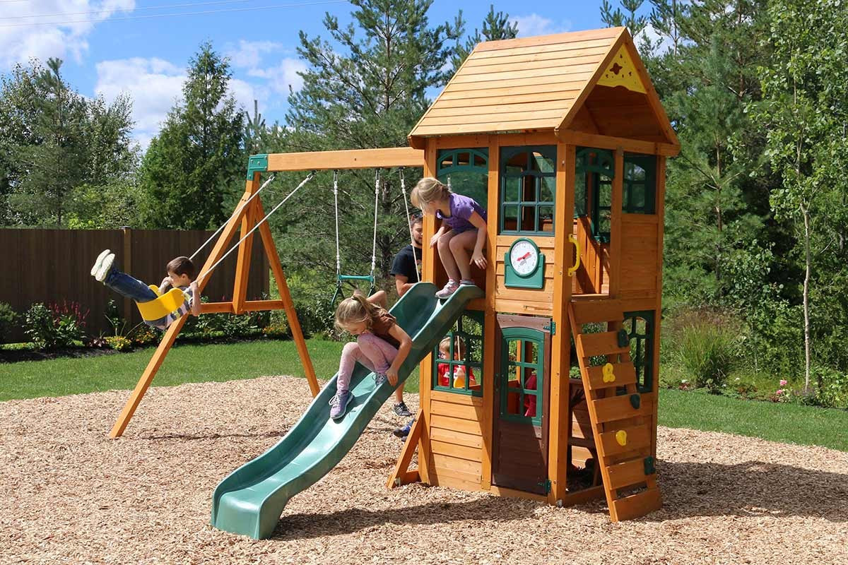 Boss Climbing Frame With Swings Slide And Lower Playhouse