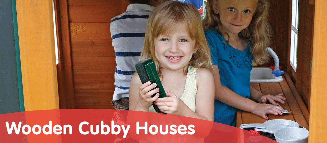 Wooden Cubby Houses For Children's Gardens
