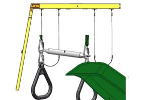 climbing frame swings and slide