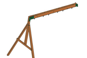 climbing frame swing beam
